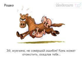Сумасшедшая камасутра. Родео - Эй, мужчина, не совершай ошибок! Конь может отомстить, оседлав тебя...