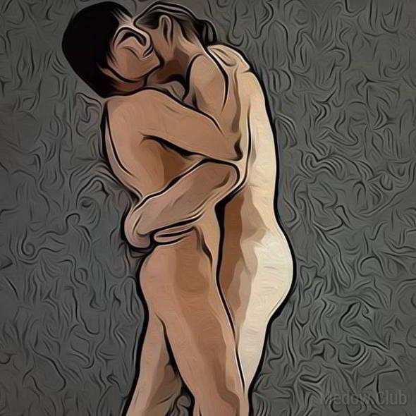 Поза для занятия сексом №37 - Стоя лицом к лицу. Фото