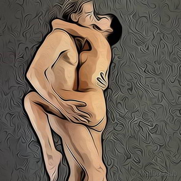 Поза для занятия сексом №49 - Стоя лицом к лицу. Фото