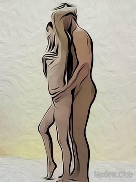 Сексуальная позиции камасутры №36 - Стоя мужчина сзади. Фото