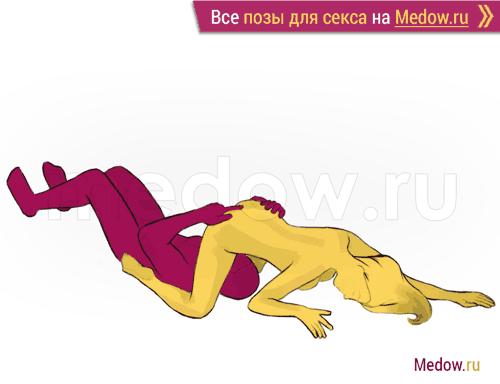 Поза для секса #170 - Бархат (кунилингус, оральный секс, женщина сверху, на коленях). Камасутра Фото, картинки