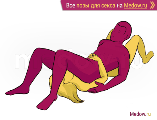 Поза для секса #171 - Ружье (минет, мужчина сверху, лежа, оральный секс). Камасутра Фото, картинки