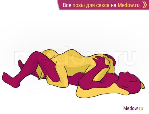 Поза для секса #182 - Кулон (минет, поза 69, лежа, женщина сверху, оральный секс). Камасутра Фото, картинки