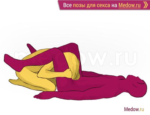 Поза для секса #51 - Зефир (минет, лежа, оральный секс). Камасутра Фото, картинки