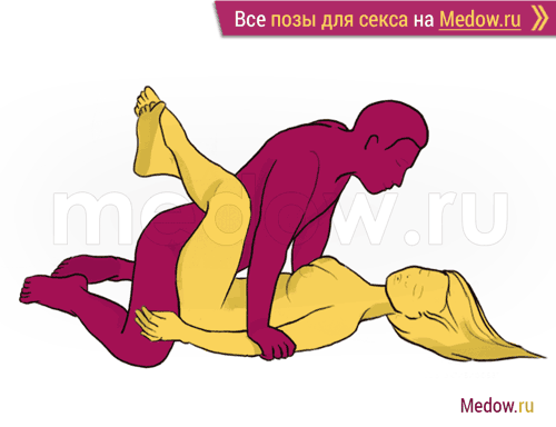 Поза для секса #42 - Крестьянская (мужсина сверху на коленях, девушка лежа на спине) Камасутра фото картинки