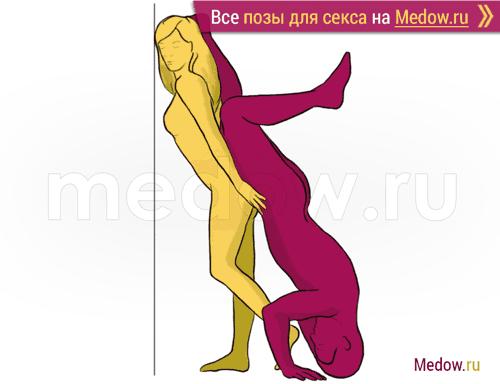 Поза для секса #166 - Горка (мужчина сзади, стоя, реверс). Камасутра Фото, картинки