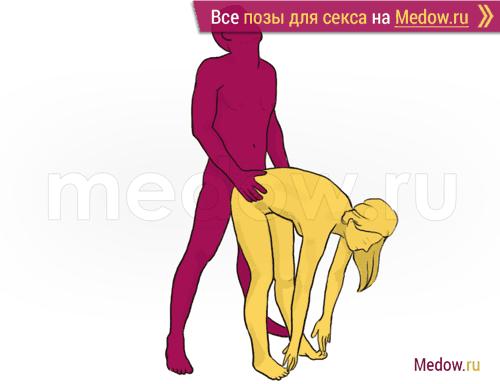 Поза для секса #200 - Звездочет (догги стайл, мужчина сзади, стоя). Камасутра Фото, картинки