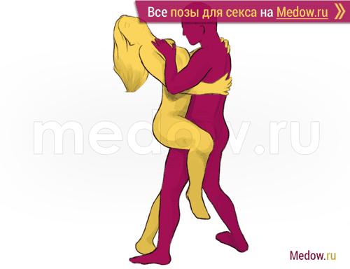 Поза для секса #22 - Танец (лицом к лицу, стоя). Камасутра Фото, картинки
