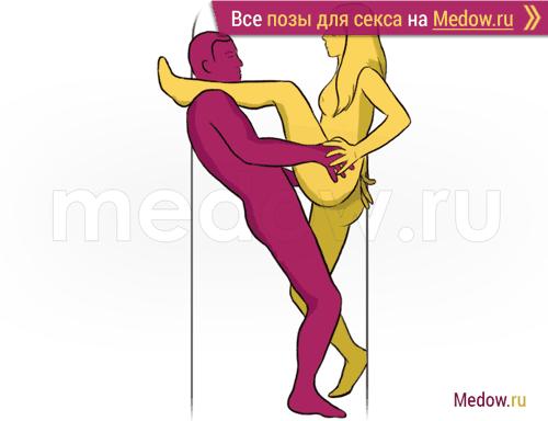 Поза для секса #60 - Пошлая девка (стоя, лицом к лицу). Камасутра Фото, картинки