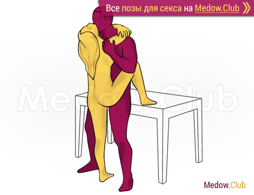Поза для секса #429 - Объятия (лицом к лицу, стоя). Камасутра Фото, Картинки