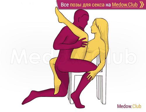 Поза для секса #355 - Тетива (лицом к лицу, на коленях). Камасутра Фото, Картинки