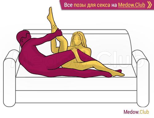 Поза для секса #257 - Заложник (лежа, на боку). Камасутра Фото, Картинки