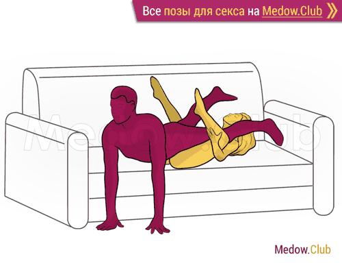 Поза для секса #384 - Скольжение (лежа, мужчина сверху, перевернутая). Камасутра Фото, Картинки