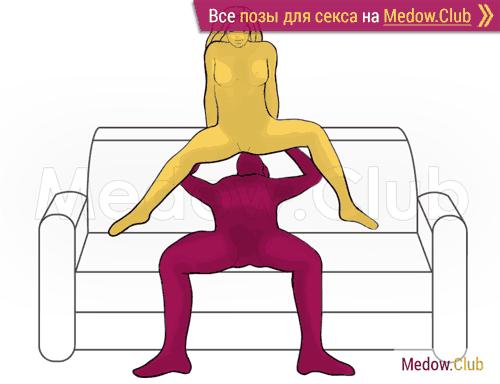Поза для секса #426 - Барби (оральный секс, орал, кунилингус, куни, женщина сверху). Камасутра Фото, Картинки