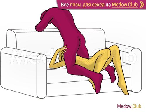 Поза для секса #341 - Глубокий рот (оральный секс, орал, минет, на коленях). Камасутра Фото, Картинки