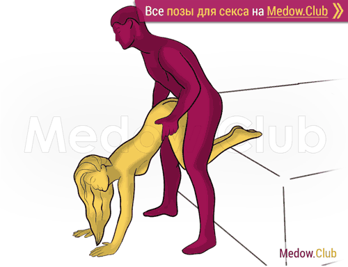 Поза для секса #480 - Сочная попка (догги, мужчина сзади, стоя). Камасутра Фото, Картинки