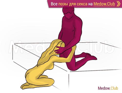 Поза для секса #354 - Комплимент (оральный секс, орал, минет, на коленях). Камасутра Фото, Картинки