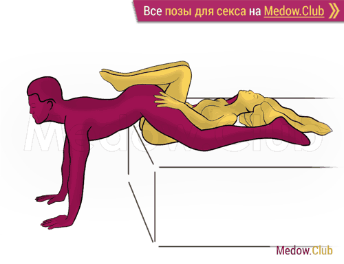 Поза для секса #469 - Тугая киска (лежа, перевернутая). Камасутра Фото, Картинки