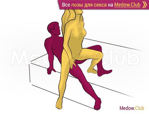 Поза для секса #368 - Пошлый танец (женщина сверху, мужчина сзади, стоя). Камасутра Фото, Картинки