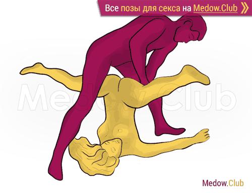 Поза для секса #285 - Дикая йога (мужчина сверху, перевернутая, стоя). Камасутра Фото, Картинки