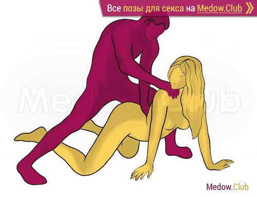 Поза для секса #340 - Самец (догги, мужчина сзади, стоя). Камасутра Фото, Картинки